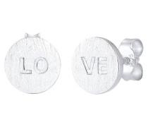 Ohrringe Love-schriftzug Liebe Matt 925 Sterling