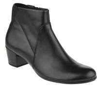Ankle Boots, Blockabsatz, Reißverschluss, Glattleder