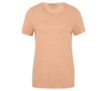 T-Shirt, Struktur-Jersey, Rundhalsausschnitt