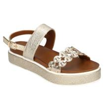 Sandaletten, Glitzer, Riemchen