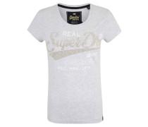 T-Shirt, Rundhalsausschnitt, Print, Strass-Logo