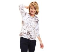 Shirt, 3/4-Arm, Rundhalsausschnitt, Baumwoll-Mix, floral