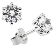 Ohrstecker, Sterling  925, -Zirkonia, zus. 1,5 ct