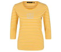 Shirt, ¾-Arm, Strassstein-Besatz, Rundhalsausschnitt, Ringel-Muster