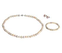 Collier, Armband & Ohrstecker, 3-tlg. Set, 925 Silber