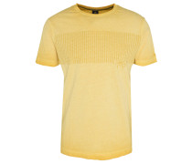 T-Shirt, gummierter Print, Oil-Washed-Optik