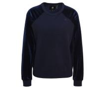 Sweatshirt, Samt-Details, uni