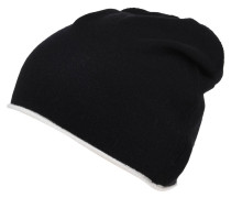 Mütze, Feinstrick, Wolle, Kaschmir-Anteil, handgemacht