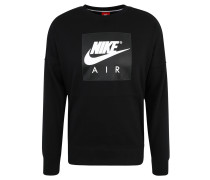 "Sweatshirt ""Air"", Innenfleece, Logo-Print"