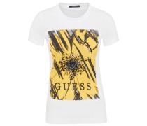 T-Shirt, Blumen-Print, Rundhalsausschnitt