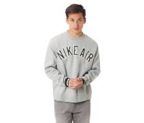 Sweatshirt, Logo-Print, meliert, Ripp-Bündchen