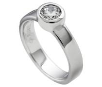 Ring  mit weißem -Zirkonia ct 0,75