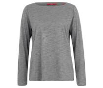 Langarmshirt, Flammgarn, Lurex-Fäden, weite Passform