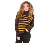 Pullover, Strick, Streifen, Schurwoll-Anteil, Stehkragen