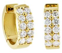 Klappcreole, Diamanten,  585, zus. ca. 0.75 ct.