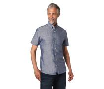 Freizeithemd, Modern Fit, Kurzarm, Button-Down-Kragen, Logo-Stickerei