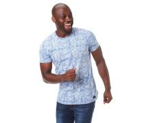 T-Shirt, Allover-Print, Baumwolle