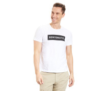 T-Shirt, Modern Fit, Baumwolle, Brustprint