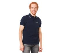 Poloshirt, Kurzarm, Logo-Stickerei, Streifen-Details