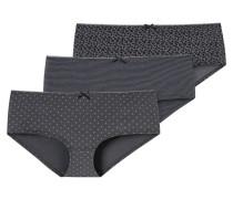 Panty, 3er Pack, gemustert