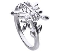 Floraler Ring  mit weißen Zirkonia-Steinen 6119421082180