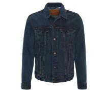 Jeans-Jacke, dezente Waschung, gerader Schnitt