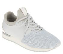 Sneaker, Materialmix, Knit-Optik, Logo-Prägung