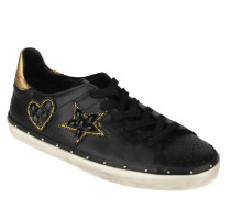 "Sneaker ""Michell"", Patches, Strass-Besatz, Metallic-Ferse"