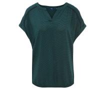 Blusenshirt, Split-Neck, überschnittene Ärmel, Allover-Print