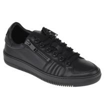 Sneaker, Leder, Ösen, Reißverschluss, Reptil-Optik