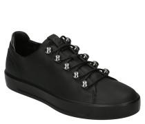 Sneaker, Leder, Metall-Details, Schnürung