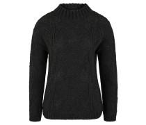 Pullover, Strick, Woll-Anteil, Blattmuster