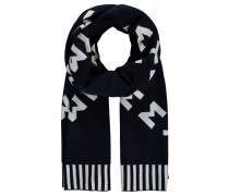 Schal, mit Wolle, geometrischer Logo-Print