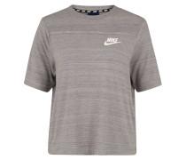 """T-Shirt """"Advance """", Logo-Print, meliert"""