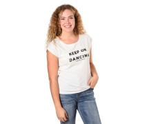 T-Shirt, Pailletten, Print, Rundhalsausschnitt