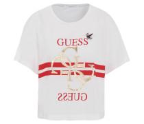T-Shirt, Anhänger, Logo-Print, Pailetten