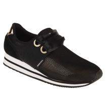 Sneaker, Statement-Sohle, Glitzer-Look, Mesh-Einsatz
