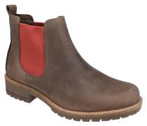 Chelsea Boots, Leder, zweifarbig, Blockabsatz, Profilsohle