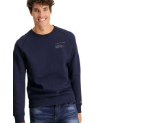 Sweatshirt, Regular Fit, dezenter Brustprint, Raglanärmel