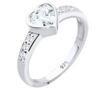 Ring Herz Zirkonia 925 Sterling Silber