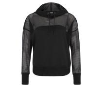 Sweatshirt, Kapuze, Netzstoff, transparent