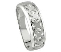 Diamant-Ring 375 gold mit 6 Diamanten, zus. ca. 0