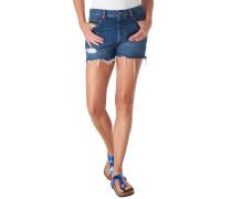 Shorts, Destroyed-Look, Fransen, Kontrastnähte