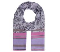 Schal, florales Muster, Streifen