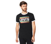 T-Shirt, Baumwolle, Logo-Print, Kontrast-Details