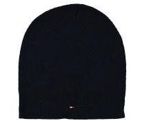 Mütze, Strick, uni, feine Logo-Stickerei