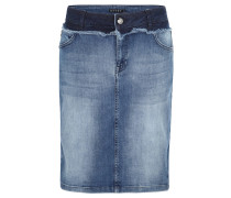 Jeansrock, Used-Waschung, Stretch-Anteil, Lagen-Look