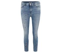 Jeans, Skinny Fit, Farbspritzer, Used-Look