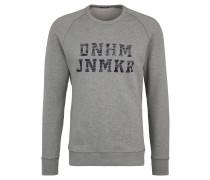 Sweatshirt, Baumwolle, Logo-Print, meliert