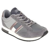 Sneaker, Veloursleder, Streifen, Logo-Applikation